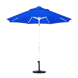 California Umbrella - California Umbrella Patio Umbrellas 9 ft. Aluminum Collar Tilt Patio Umbrella - Shop for Outdoor Patio Furniture at The Home Depot. Designed for convenience value and performance California Umbrella products bring the full weight of our design experience to your table. California Umbrella pioneered and developed the original and revolutionary Collar Tilt feature to tilt your umbrella to any degree you wish while you enjoy the afternoon and evening outside. We still boast the widest tilt degree in the Market allowing you to stay outside longer with your family and friends. Pacifica NEW by California Umbrella is a solution dyed polyester fabric perfected for use with our umbrellas. Our proprietary selection offers tremendous possibilities for color varieties and performance shade fabric. Color: Matted White.