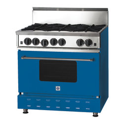 "36"" BlueStar Range in Capri Blue (RAL 5019) - RAL 5019"
