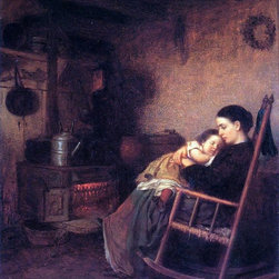"""Art MegaMart - Eastman Johnson Mother and Child - 20"""" x 25"""" Premium Canvas Print - 20"""" x 25"""" Eastman Johnson Mother and Child premium canvas print reproduced to meet museum quality standards. Our museum quality canvas prints are produced using high-precision print technology for a more accurate reproduction printed on high quality canvas with fade-resistant, archival inks. Our progressive business model allows us to offer works of art to you at the best wholesale pricing, significantly less than art gallery prices, affordable to all. We present a comprehensive collection of exceptional canvas art reproductions by Eastman Johnson."""