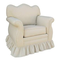Monaco Vanilla Nursery Glider Chair - The most comfortable nursery glider you could imagine!