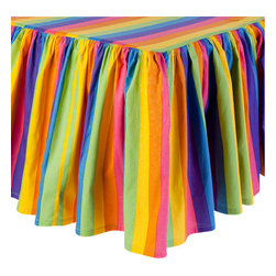 Sin in Linen - Rainbow Crib Sheets - Totally awesome! Your little one will go gaga over this colorful baby bedding.  Includes crib sheet and crib skirt.