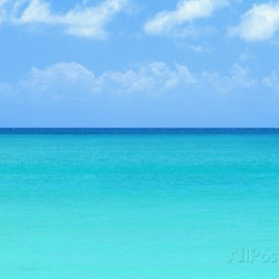 Blue-green Water of the Caribbean Sea -