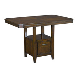 Standard Furniture - Standard Furniture Avion Counter Height Table in Cherry - Avion Dining has smooth transitional styling that gives it great decor versatility and ensures broad and long lasting appeal.