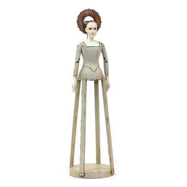 Go Home - Wooden Fancy Madame - Beautiful hand painted wooden Fancy Madame doll, Fantastic doll for your child to play.Perfect for gift idea.Made from wood and has hand painted finish.