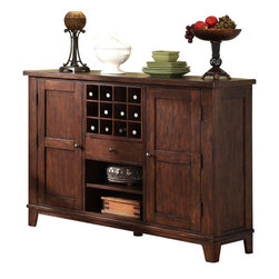 Riverside Furniture - Riverside Furniture Castlewood Server in Warm Tobacco - Riverside Furniture - Buffet Tables and Sideboards - 33556
