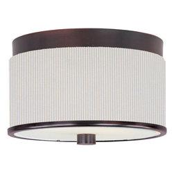 ET2 - ET2 E95100-102 Elements 2-Bulb Flush Mount Indoor Ceiling Fixture - Fabric Shade - Product Features: