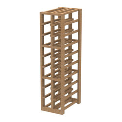 EcoWineracks 2 Column Lower Individual Bottle Rack, Natural Color, Clear Acrylic - EcoWineracks are the worlds only traditional style wine racks made from non-forested and sustainable bamboo. Bamboo is superior to wood in strength and durability, is non-warping and has consistent grain.