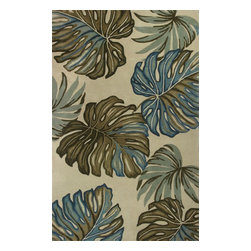 """Kas - Country & Floral Sparta 5'3""""x8'3"""" Rectangle Ivory Area Rug - The Sparta area rug Collection offers an affordable assortment of Country & Floral stylings. Sparta features a blend of natural Ivory color. Hand Tufted of 100% Wool the Sparta Collection is an intriguing compliment to any decor."""