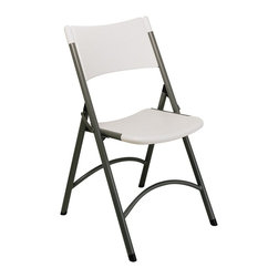 Office Star - Resin Folding Chairs - Set of 4 - This sleek set of four folding chairs features a blow mold, resin construction and a glossy, metal finished frame.  This chair provides ample and comfortable seating space to any room that needs it. * Set of 4 chairs. Resin construction. Metal Frame. 18.5 in. W x 21.9 in. D x 33.2 in. H. 18.5 in. W x 21.9 in. D x 33.2 in. H