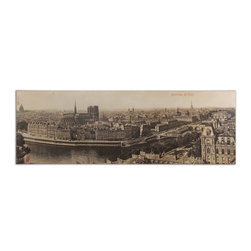 Kowalski Brothers - Kowalski Brothers Panorama de Paris Traditional Wall Art / Wall Decor X-00513 - This frameless, giclee artwork on canvas provides vibrant color and a high degree of fine detailing. The canvas is stretched and attached to wooden stretching bars.
