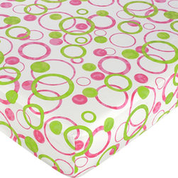 Sweet Jojo Designs - Circles Pink Print Crib & Toddler Sheet by Sweet Jojo Designs - The Circles Pink Print Crib & Toddler Sheet by Sweet Jojo Designs, along with the  bedding accessories.