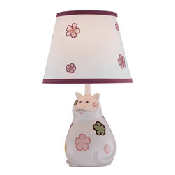 Lite Source - Lite Source LS-IK-6093 Kids / Themed Single Light Up Lighting Table Lamp - Single Light Table Lamp from the Meow Collection