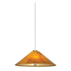 Tech Lighting - Tech Lighting 700MO2LRKAZ MO2Mini Larkspur amber, bz - Fused and slumped plate glass shade, warm with color and pattern, highlighted with metal details. Glass disc diffuser provides glare free light.  Includes two lowvoltage, 35 watt halogen bipin lamps and six feet of fieldcuttable suspension cable.