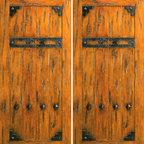 """Exterior Double Door, Knotty Alder V-Grooved, Clavos, Straps - SKU#SW-75_2BrandAAWDoor TypeExteriorManufacturer CollectionWestern-Santa Fe Entry DoorsDoor ModelDoor MaterialWoodWoodgrainKnotty AlderVeneerPrice1900Door Size Options2(30"""") x 80"""" (5'-0"""" x 6'-8"""")  $02(32"""") x 80"""" (5'-4"""" x 6'-8"""")  $02(36"""") x 80"""" (6'-0"""" x 6'-8"""")  +$202(42"""") x 80"""" (7'-0"""" x 6'-8"""")  +$2402(36"""") x 84"""" (6'-0"""" x 7'-0"""")  +$2602(30"""") x 96"""" (5'-0"""" x 8'-0"""")  +$6402(32"""") x 96"""" (5'-4"""" x 8'-0"""")  +$6402(36"""") x 96"""" (6'-0"""" x 8'-0"""")  +$6602(42"""") x 96"""" (7'-0"""" x 8'-0"""")  +$1060Core TypeSolidDoor StyleRusticDoor Lite StyleDoor Panel StyleV-GroovedHome Style MatchingSouthwest , Log , Pueblo , WesternDoor ConstructionTrue Stile and RailPrehanging OptionsPrehung , SlabPrehung ConfigurationDouble DoorDoor Thickness (Inches)1.75Glass Thickness (Inches)Glass TypeGlass CamingGlass FeaturesGlass StyleGlass TextureGlass ObscurityDoor FeaturesDoor ApprovalsDoor FinishesDoor AccessoriesClavos , StrapsWeight (lbs)680Crating Size25"""" (w)x 108"""" (l)x 52"""" (h)Lead TimeSlab Doors: 7 daysPrehung:14 daysPrefinished, PreHung:21 daysWarranty1 Year Limited Manufacturer WarrantyHere you can download warranty PDF document."""