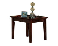Steve Silver - Steve Silver Clemens 24 Inch Square End Table in Rich Cherry - The Clemens Occasional collection is simple and functional. The end table has a rich cherry finish and a large tray top design. This table functions as a traditional end table or as a side table to display decorative items. What's included: End Table (1).
