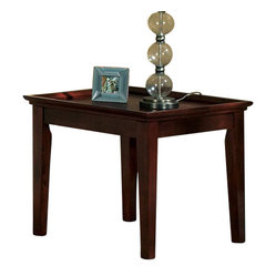 Steve Silver Clemens 24 Inch Square End Table in Rich Cherry