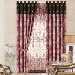 Customized Curtains in Pink Color -
