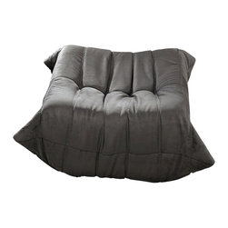 """LexMod - Waverunner Ottoman in Light Gray - Waverunner Ottoman in Light Gray - Provide natural comfort at every gathering with a balanced set of functional symmetry. Observe as Waverunner interplays ergonomics with dense foam cushioning to precisely reflect full relaxation. Wander through the pathways of elucidation with a multi-layered environment of intricate folds and holistic positioning. Set Includes: One - Waverunner Modular Ottoman Perfect for living room or lounge, Covered in easy-care microfiber, Ground level Density foam, Sold as a set or individually Overall Product Dimensions: 26""""L x 31""""W x 13""""H - Mid Century Modern Furniture."""