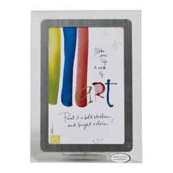 "Westland - 4 x 6"" Colorful Work of Art Musical Frame with Silver Colored Edges - This gorgeous 4 x 6"" Colorful Work of Art Musical Frame with Silver Colored Edges has the finest details and highest quality you will find anywhere! 4 x 6"" Colorful Work of Art Musical Frame with Silver Colored Edges is truly remarkable."