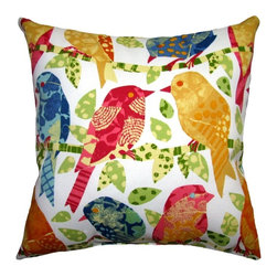 Land of Pillows - Richloom Solarium Ash Hill, Garden, 16x16 - Fabric Designer - John Wolf by Richloom Solarium