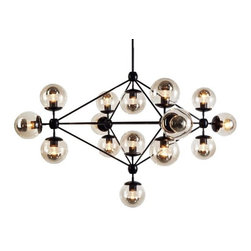 Modo Chandelier - This fixture is simply too too too cool. Love the framework, love the globes, love the bulbs. The geometry is eye catching and futuristic, yet just a touch retro at the same time.