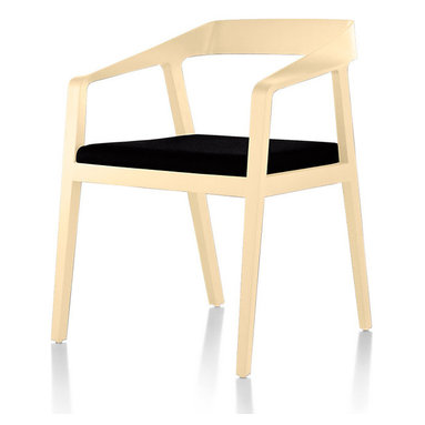 Geiger - Full Twist Guest Chair - The clean lines of this aesthetically tidy chair perfectly complement your modern dining room table or stylish desk. And whether you happen to be dining or working, the upholstered seat ensures you can sit comfortably for hours.