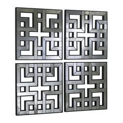 Cyan Design - Akari Mirror Panels Set of 4 - -Akari Mirror Panels Set of 4