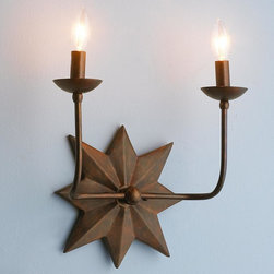 Two Light Star Sconce -