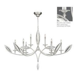 Fine Art Lamps - Fine Art Lamps 843840-12 Marquise Silver Faceted Crystal 8 Light Chandelier - Fine Art Lamps 843840-12 Marquise Silver Leaf 8 Light Chandelier