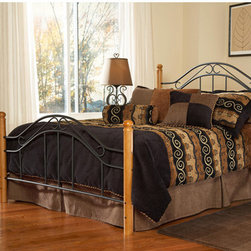 Hillsdale - Winsloh Metal Bed - The Winsloh Headboard has a simple yet classic design that has become one of the industry''s best sellers. A cottage theme marries hardwood posts with textured black metal panels. Features: -Includes headboard, footboard, and bed frame.-Fully welded construction.-Black with medium oak finish.-Recommended care: Dust frequently using a clean, specially treated dusting cloth that will attract and hold dust particles. Do not use liquid or abrasive cleaners as they may damage the finish..-Distressed: No.-Collection: Winsloh. About the Manufacturer: About Hillsdale House Furniture Located in Louisville, KY, Hillsdale House Furniture has produced an enormously popular collection of bedroom and accent furniture. Hillsdale House items are constructed of quality materials and offered at an affordable price. We are an authorized dealer of the full line of Hillsdale House furniture; if you can''t find a specific Hillsdale piece, give us a call!