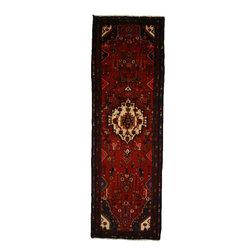 eSaleRugs - 3' 5 x 10' 7 Hamedan Persian Runner Rug - SKU: 110892570 - Hand Knotted Hamedan rug. Made of 100% Wool. 30-35 Years.