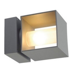 """SLV Lighting - SLV Lighting Square Turn G9 Outdoor Wall Luminaire - The Square Tiara G9 luminaire was designed in Germany. Suitable for residential and commercial applications. The body is made of aluminum in a modern shape fixture, rotates 360 degrees that can be mounted in wall, ceiling flush mount, exterior ceiling flush mount, exterior bollard and exterior wall sconce version. Adjustable fixture!  Product Details: The Square Turn G9 luminaire was designed in Germany. Suitable for residential and commercial applications. The body is made of aluminum in a modern shape fixture, rotates 360 degrees that can be mounted in wall, ceiling flush mount, exterior ceiling flush mount, exterior bollard and exterior wall sconce version. Adjustable fixture!  Details:                                     Dimensions:                                     Lenght: 6.8"""" (17.27 cm) X Height: 4.7"""" (11.93 cm) X Width: 4.7"""" (11.93 cm)                                                     Light bulb:                                     1 X 9W G9 halogen (excl.)                                                     Material:                                     Aluminum, glass                         ETL - listed certified for use in U.S., Canada and all other countries worldwide."""
