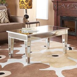 Southern Enterprises - Mirage Mirrored Cocktail Table - CK9166 - Shop for Tables from Hayneedle.com! Add a touch of glamour to your living room with this stylish cocktail table. The Mirage Mirrored Cocktail Table is made of MDF and has a mirrored finish. This contemporary table draws your attention with its style and functionality. Its not only sturdy but also durable and will last for a long time. With a stylish flair this cocktail table makes an extraordinary addition to most styles of room decor.About SEI (Southern Enterprises Inc.)This item is manufactured by Southern Enterprises or SEI. Southern Enterprises is a wholesale furniture accessory import company based in Dallas Texas. Founded in 1976 SEI offers innovative designs exceptional customer service and fast shipping from its main Dallas location. It provides quality products ranging from dinettes to home office and more. SEI is constantly evolving processes to ensure that you receive top-quality furniture with easy-to-follow instruction sheets. SEI stands behind its products and service with utmost confidence.