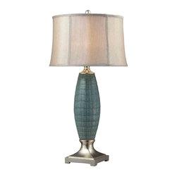 Dimond Lighting - Dimond Lighting D2272 Cumberland Turquoise Glaze Table Lamp - Dimond Lighting D2272 Cumberland Turquoise Glaze Table Lamp