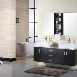 "61"" Portland Double Vessel Sink Vanity (DEC004) -"