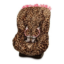 Baby Bella Maya - Baby Bella Maya Toddler Car Seat Cover in Lollipop Leopard - The Baby Bella Maya Lollipop Leopard toddler car seat cover in a leopard animal print is a sophisticated and stylish way to give your toddler car seat a new look.