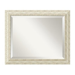 "Cape Cod Wall Mirror - 23.5W x 19.5H in. - About Amanti ArtAmanti Art, derived from the Italian way to say """"art lovers,"""" has the simple goal of creating an effective way to bring the love of art into everyone's homes. The company offers beautifully crafted frames and top-notch prints at an inexpensive price and with the highest convenience."