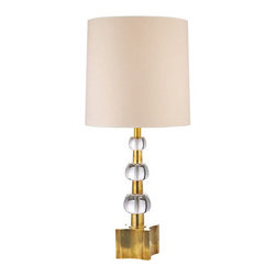 Hudson Valley Lighting - Hudson Valley Lighting L125 Kentfield 2 Light Table Lamp - Hudson Valley Lighting L125 Kentfield 2 Light Table LampThis modern table lamp is available with several finish options and has a descending cascade of decorative crystal accent spheres.Hudson Valley Lighting L125 Features: