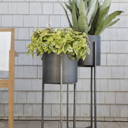 Dundee Floor Planters - Bring these planters inside for your house plants, or you could even use fake ones (I won't judge).