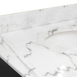 "Bellaterra Home - Backsplash-white marble-36"" - genuine white marble"