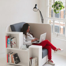Reading Chair: Seat with Built-In Book & Magazine Shelves | Designs & Ideas on D