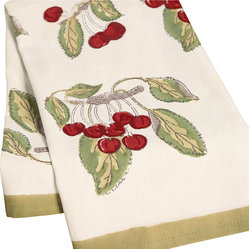 "Cherry Tea Towels, 20""x30"""