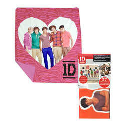 Store51 LLC - One Direction Throw Blanket Sticker Set 1D Pink Zebra Heart - FEATURES: