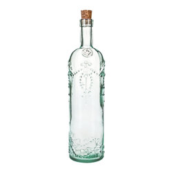 Global Amici - Cordoba Green Glass and Cork Bottles (Set of 2) - Amici's Cordoba Bottle with a cork seal is produced in Spain using Recycled Green Glass. Use this vintage bottle to serve water,Ice Tea or Lemonade.