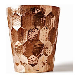 Tom Dixon - Hex Champagne Bucket | Tom Dixon - Designed by Tom Dixon, 2012.The Hex collection of tableware includes a series of hand crafted vessels in solid copper. Each piece is hand-formed and then hammered with a distinctive hexagonal pattern. The Hex Champagne Bucket is polished and sealed with a food safe clear lacquer, and is sophisticated enough for serving up your finest bubbly. But beauty shouldn't be limited - Hex is worthy of daily display for holding personal essentials as a decorative home accent.This accessory is from the ECLECTIC Collection by Tom Dixon - the brand's first focused foray into everyday home accessories, giftware and design objects. Launched in January 2012 at Maison & Objet, the collection uses honest and resilient materials traditional to Tom Dixon, including copper, brass, marble, cast iron and wood. These products are made to be used or played with, to be treasured or to be given.All ECLECTIC pieces arrive in gift packaging that is Graphic, Bold and Confident. Packaging is intentionally intriguing to heighten the experience of the product through anticipation and the ceremony of opening it - be it a gift for another or just for you. Enjoy!