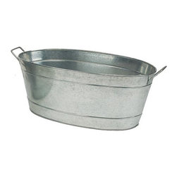 Minuteman International - Large Oval Steel Planting Tub - C-55 - Shop for Planters and Pottery from Hayneedle.com! Reminiscent of dairy cows and general stores the Large Oval Steel Planting Tub gives even the most urban garden a rustic country charm. Fill with ice for chilling beverages in the summer use to hold firewood in the winter grow vegetables . . . the list goes on and on! Drainage holes should be drilled for direct planting. Two side handles make for easy transport.About ACHLA DesignsThis item is created by ACHLA Designs. ACHLA is a garden accessories company that emphasizes unique wood and hand-forged wrought iron European furnishings for the home and garden. ACHLA Designs continues to add beautiful and unique items year after year resulting in an unusually large product line. All ACHLA products are stocked in the company's warehouse for year-round prompt shipping. ACHLA Designs takes great pride in offering exceptional products and customer service.