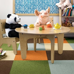 Carpet Tile - Flor tiles are a great choice for a craft room. They're built for real life so they can handle just about anything kids can dish out. To clean up any spills, simply pick the soiled tile up, shake or rinse off and put back in place — easy peasy.