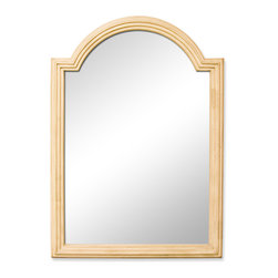 "Hardware Resources - Lyn Design MIR028 Wood Mirror - 26"" x 36"" Buttercream reed-frame mirror with beveled glass"