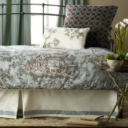 Camille Toile - Daybed Duvet - Expresso Daybed Duvet - Reversible Daybed Duvet C - The fabric is elegant, rich and cozy.
