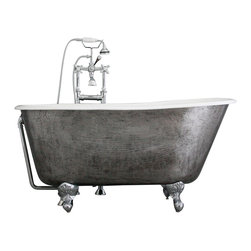 "Penhaglion - 'The Newstead' 54"" Cast Iron Swedish Slipper Tub Package from Penhaglion - Product Details"
